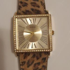 Ladies Guess Animal Leopard Print Watch